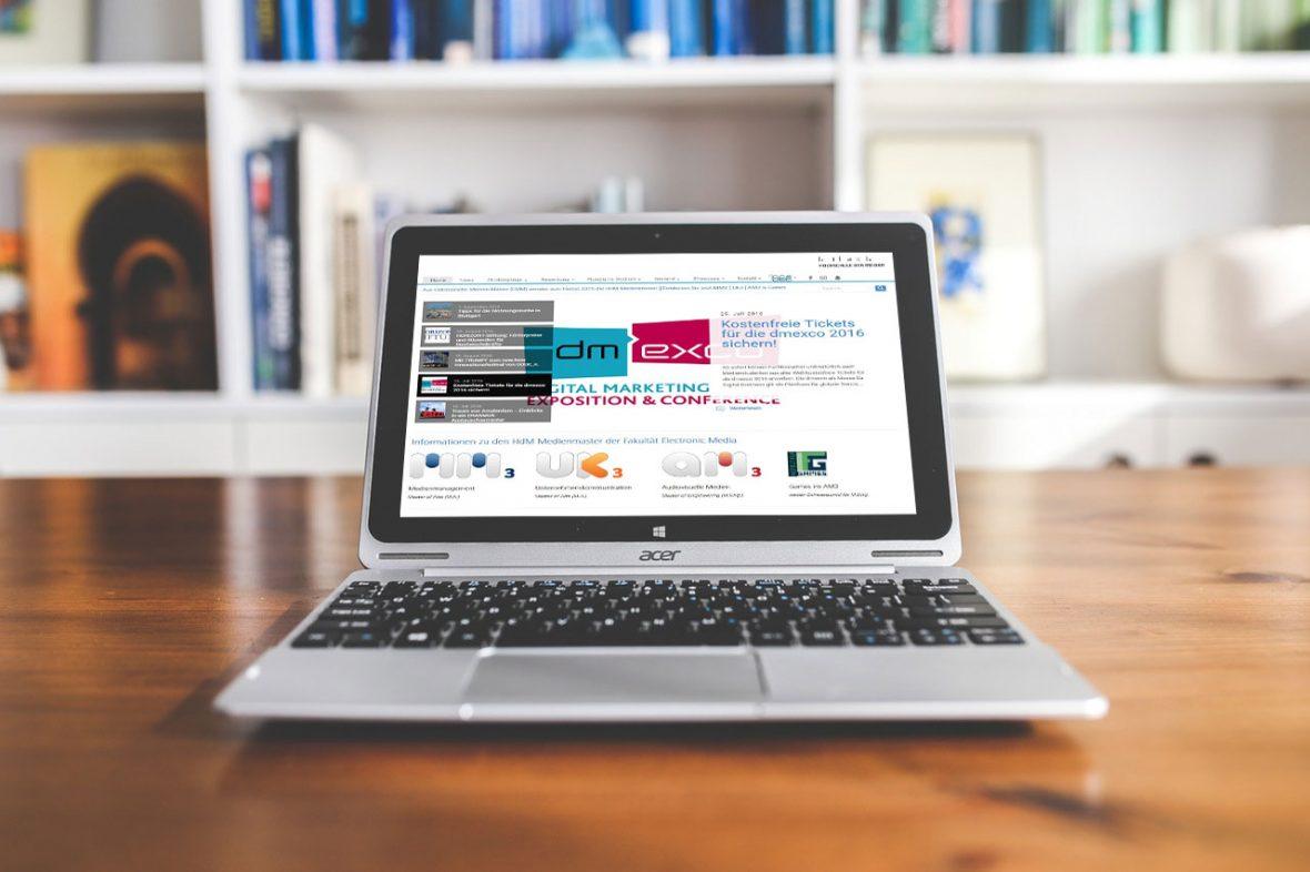 Betreuung der Website des Studiengangs EMM
