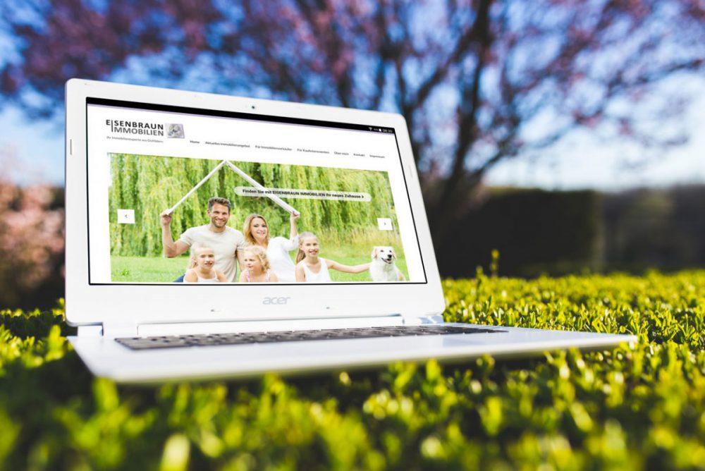 Bild Der Von Vera Eisenbraun Konzipierten Und Umgesetzten Website Von Eisenbraun Immobilien