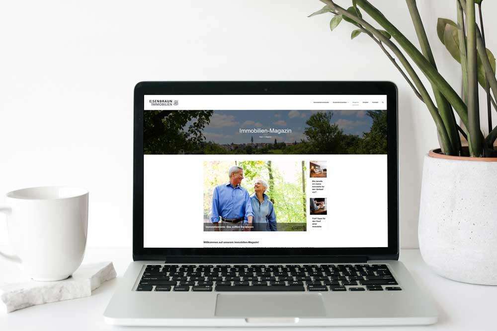 Online-Marketing: Immobilien-Magazin Von Eisenbraun Immobilien