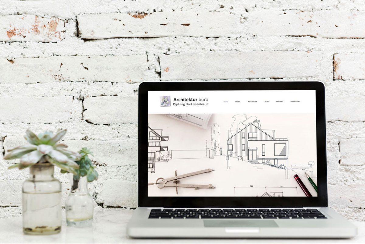 Bilder Der Von Mir Konzipierten Und Umgesetzten Website Des Architekturbüro Eisenbraun