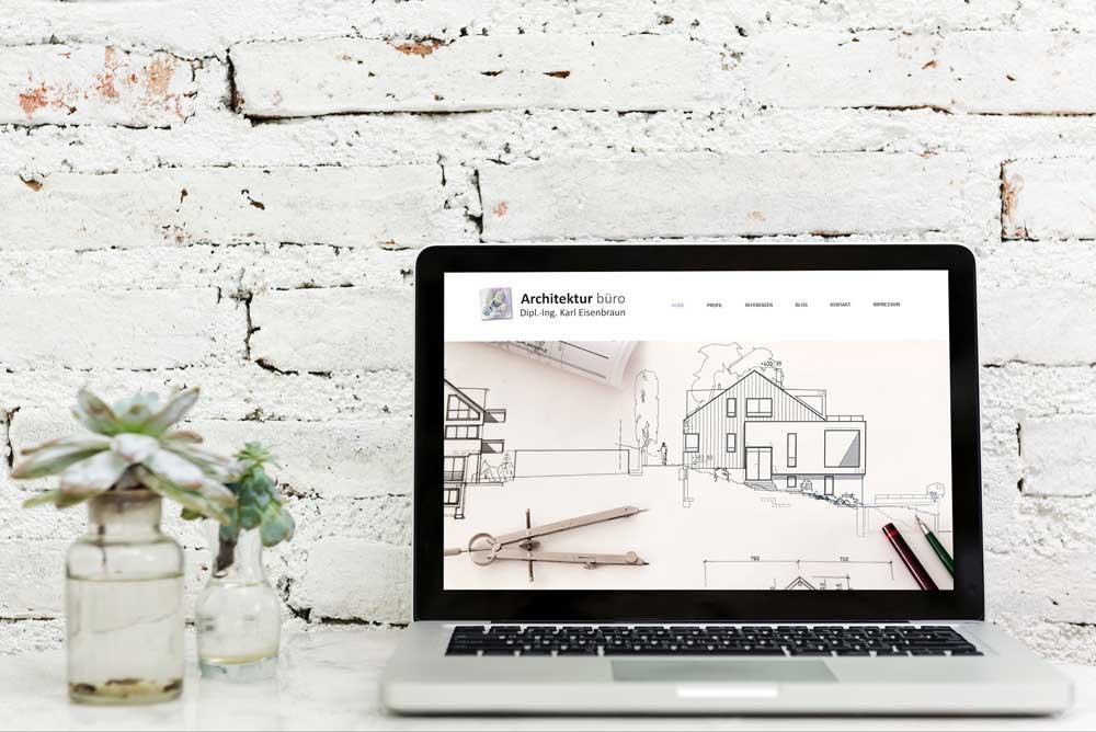 Das Bild Zeigt Die Von Mir Konzipierten Und Aufgesetzten Website Des Architekturbüro Eisenbraun